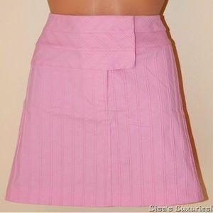CACHE Short Skirt Women's 8 Stretch Textured Pink